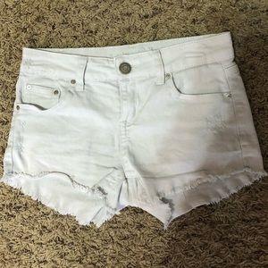 Pants - White jean shorts